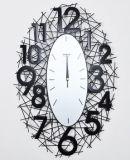 Grande orologio di parete modellato di tecnica del nastro metallico