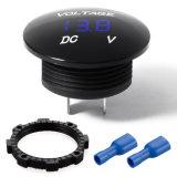 CC impermeabile blu 12V-24V del tester del voltmetro di Digitahi LED per il motociclo dell'automobile