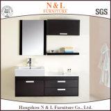 N&L 현대 높은 광택 검정 PVC 목욕탕 허영 내각