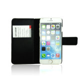 Caja móvil del teléfono celular de la carpeta de cuero del tirón para el iPhone 7/6/6s más casos