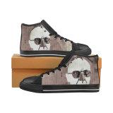 La coutume font à des chaussures les espadrilles classiques de toile d'impression de sublimation