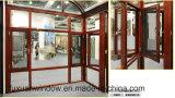 Doppeltes glasig-glänzendes Fenster-Aluminiumflügelfenster-Fenster