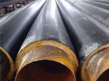 Tubo de acero a prueba de calor de alta temperatura aislado aislante del tubo de vapor de las lanas de cristal de la chaqueta de acero