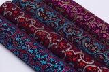Couro artificial sintético reunido do Glitter para sapatas, sacos, mobília, decoração, vestuário (HS-Y101)