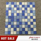 Cristal de vidro colorido branco do mosaico da mistura azul para o Pub