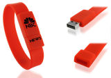 Movimentação por atacado do flash do USB do bracelete do Wristband/do silicone do USB da forma