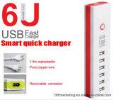 6 Lader van de Muur van de Adapter van de Lader van havens USB de Snelle Universele Draagbare