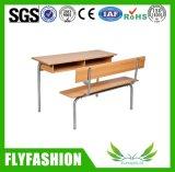 Großhandelsschulmöbel-Doppelt-Kursteilnehmer-Schreibtisch und Stuhl eingestellt (SF-45D)