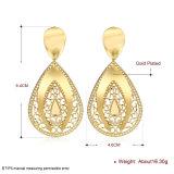 Juwelen van de Oorringen Zircon van de Oorringen van de Daling van het water de Gouden 18k Gouden