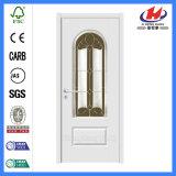 6 Panel-festes Holz-Platte-weiße glasig-glänzende Innenglastüren (JHK-G07)