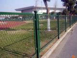 PVCによって塗られる電流を通された拡大された金属線の網の塀