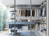 Lacada de madeira Closet de quarto Walk-in Wardrobe