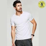 Último diseño 100% algodón camisetas de verano para los hombres cuello redondo Camiseta de manga corta