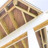 Maintanence inférieur Brown et plancher extérieur gris de PVC