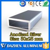Profilé d'aluminium en aluminium rectangulaire personnalisé personnalisé avec anodisation