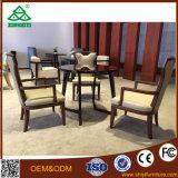 Cadeira sólido mesa redonda com três cadeiras para sala de jantar define