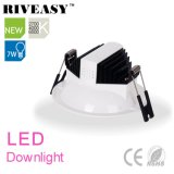 iluminación antideslumbrante LED Downlight de 7W LED LED