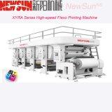 Color Flexo de la velocidad 6 e impresora del fotograbado antes de pila de discos