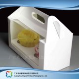 Papppapierverpackenkasten mit Fenster für Nahrungsmittelkuchen (xc-fbk-007)