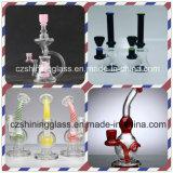 Tubulação de água de fumo de vidro da cor roxa agradável com difusor interno