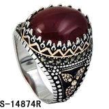 Nieuwe Modellen 925 de Zilveren Rode Ring van de Mensen van het Agaat
