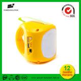 Портативный солнечный фонарик с вися заряжателем шарика и мобильного телефона