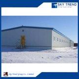 Favorables à l'environnement galvanisés assemblent l'entrepôt léger de structure métallique de bâti