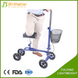 Healthcare Plegable Handicap Knee Walker con el apoyo de la rodilla