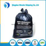 Extra forte preto LDPE sacos de lixo plástico para resíduos de construção