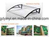 baldacchino di alluminio DIY del policarbonato solido blu esterno di 100X120cm (YY1000-F)