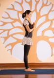 Frauen trocknen schnell rüttelnde Übungs-Stück-Komprimierung-Gymnastik-Yoga-Sportkleidung