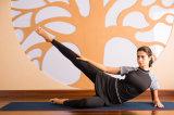 Kundenspezifische feste Gamaschen-Gymnastik-Trainingsnazug-Sonnenblume-Trainings-Yoga-Sportkleidung