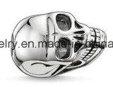 De echte Zilveren Materiële Parel van de Schedel van Juwelen