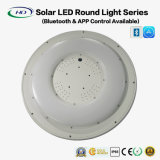 lumière ronde solaire de 25W DEL avec Bluetooth $$etAPP
