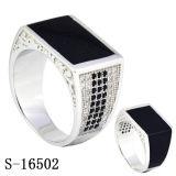 Anelli d'argento degli uomini della CZ dei monili di modo del nuovo modello 925 dell'anello dell'uomo
