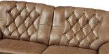 Nuevo sofá del cuero de la llegada con la hebilla, muebles de la sala de estar (6980)