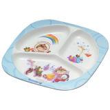 100 % de la mélamine vaisselle- Kid's Art de la table les enfants de 3-divisé la plaque (BG803)
