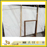 Роскошный новый сляб Volakas белый мраморный для плакирования стены