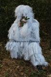 Costume bianco come la neve all'ingrosso, vestito di Ghillie dei vestiti di Cmouflage, vestito di caccia