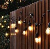 防水10m 10 LEDストリングライト屋内屋外の商業用等級E26 E27の通りの庭のテラスの裏庭の休日ストリング照明