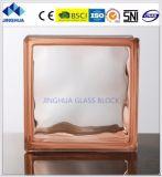Haute qualité couleur bleu Jinghua nuageux 190x190x80mm/bloc de brique de verre