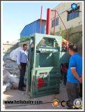 ボール紙のプラスチック織物のリサイクルのための安い耐久の縦のスクラップの梱包機