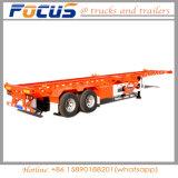Gloednieuwe 40FT 2 Gooseneck van de Container van het Skelet van Assen Aanhangwagen voor Verkoop