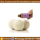 La Chine Nouvelle Zélande en gros XL billes organiques de dessiccateur de laines de blanchisserie normale pure de feutre du sac 100% de coton de 6 paquets