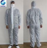 Tuta non tessuta del tessuto di Spunbond/vestiti protettivi a gettare