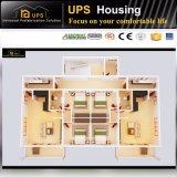 Chambres de luxe préfabriquées de vente de résistance chaude de vent avec Windows et des portes