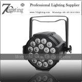 Iluminación de la colada de la luz de la IGUALDAD de la IGUALDAD 18X12W RGBW LED del patio de DMX