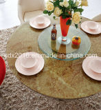 現代様式ステンレス製フレームの磨くダイニングテーブル