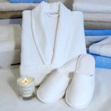 Albornoz, las mujeres Kimono de felpa suave manto Collar albornoz