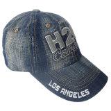 Casquette de baseball de jeans lavée par coutume avec le logo #12